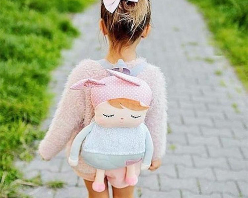 mochila infantil boneca angela