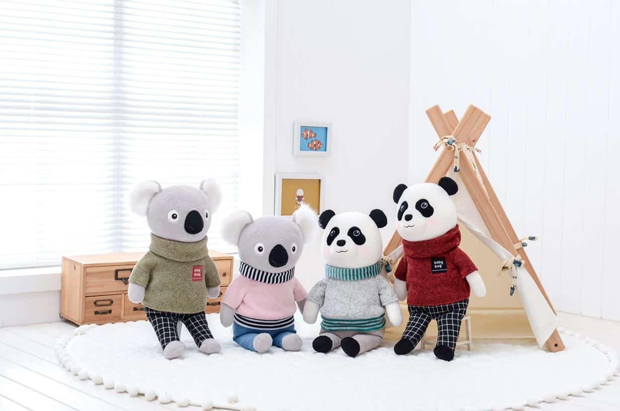 pelúcia de pano panda metoo
